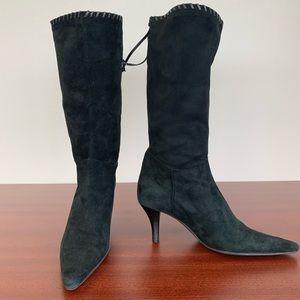 Nine West black suede boots